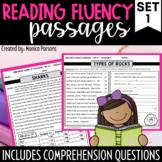 Reading Fluency Passages & Comprehension - Grades 3 - 6 {Nonfiction}