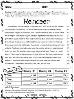 Christmas Fluency Passages for Grades 3 - 6 {Nonfiction}