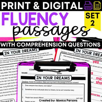 Fluency Passages for Grades 3 - 5: Set 2 {Nonfiction}