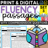 Reading Fluency Passages and Comprehension Questions - Set 3