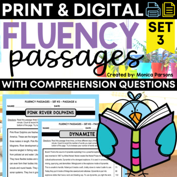 Fluency Passages for Upper Elementary Students - Set 3