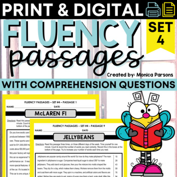 Fluency Passages for Grades 3 - 6: Set 4 {Nonfiction}