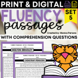 Reading Fluency Passages and Comprehension Questions - Set 5