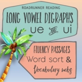 Fluency Passages or Close Readings of Long Vowel Digraphs ue and ui