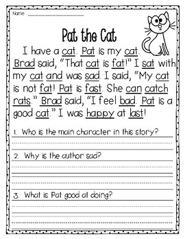 Fluency Passages to supplement Treasures - 1st Grade (Part 1)