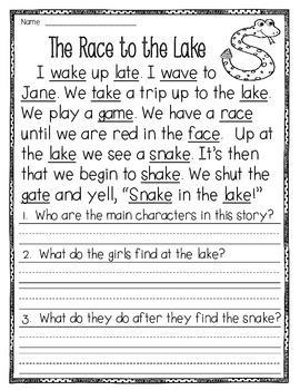 Fluency Passages to supplement Treasures - 1st Grade (Part 2)