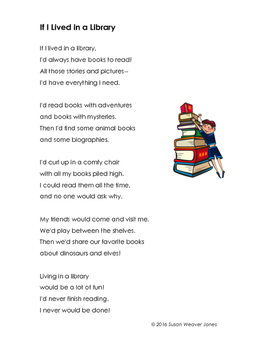 """Fluency, Phonics, and Fun through Poetry #11 (""""If I Lived in a Library"""")"""