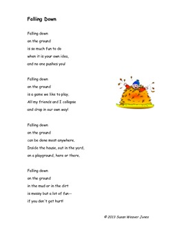 """Fluency, Phonics, and Fun through Poetry # 3 (""""Falling Down"""")"""