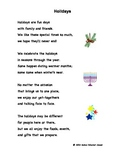 """Fluency, Phonics, and Fun through Poetry # 4 (""""Holidays"""")"""