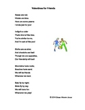 """Fluency, Phonics, and Fun through Poetry # 6 (""""Valentines for Friends"""")"""