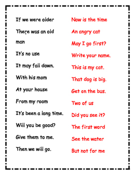 Fluency Phrases (1 of 3)