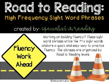 Fluency Phrases: First 300 Fry Words- Aligned with the Road to Reading Program