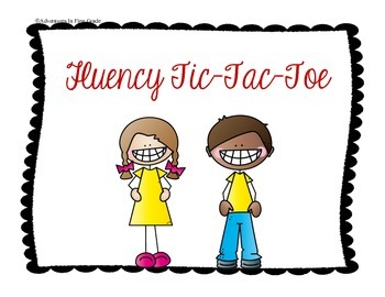 Fluency Phrases Tic-Tac-Toe