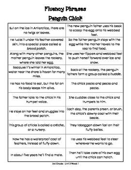 Fluency Phrases for Main Story - Reading Street 2013 - 3rd Grade - Unit 2