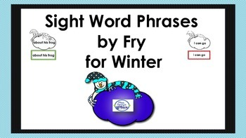 Fluency Phrases for Winter Practice