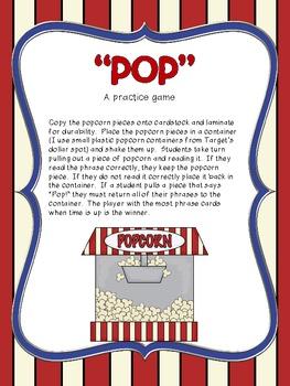 Fluency Phrases.....Popcorn Phrases Set 2