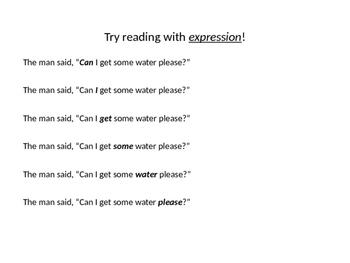 Fluency Phrasing Mini-Lesson