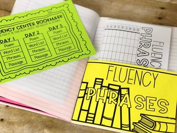 Fluency Pockets and Bookmark
