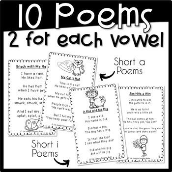 CVC Words Fluency Poems