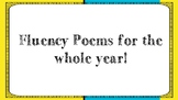 Fluency Poems for a Year!