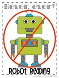 Fluency Poster: Never, Ever Robot Reading * FREEBIE *