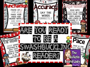 Fluency Posters Pirate Theme: Be a Swashbuckling Reader!