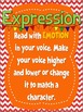 Fluency Posters (Red and Orange with Pennants) Bulletin Board