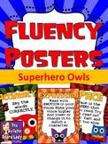 Fluency Posters-Superhero Owls