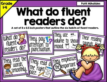 Fluency Posters: What do fluent readers do?