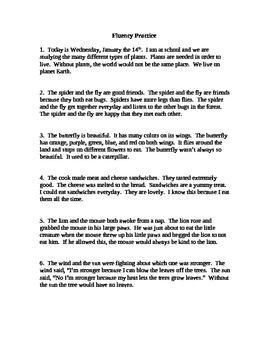 Fluency Practice 3
