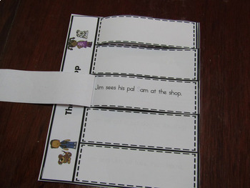 Sentence Sight words and short vowels -Fluency for Struggling Readers