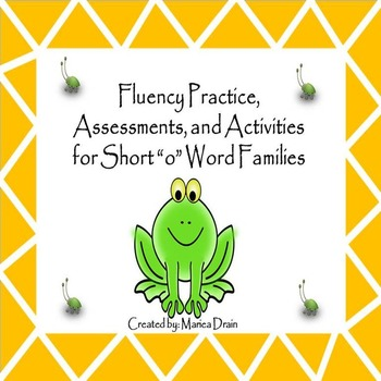 """Fluency Practice, Assessments, and Activities for Short """"o"""