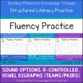 Fluency Practice BUNDLE- Sound Options, R-Controlled Syllables, Vowel Digraphs