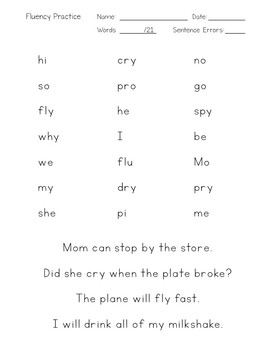 Fluency Practice BUNDLE - Closed, V-E, Open, Consonant LE Syllables + Suffixes