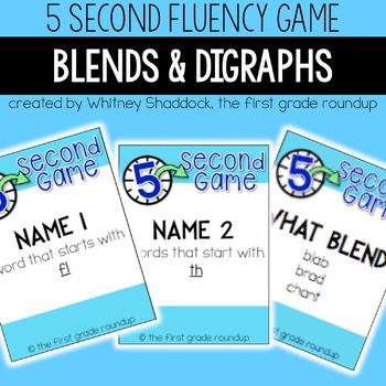 Fluency Practice Games: Blends and Digraphs