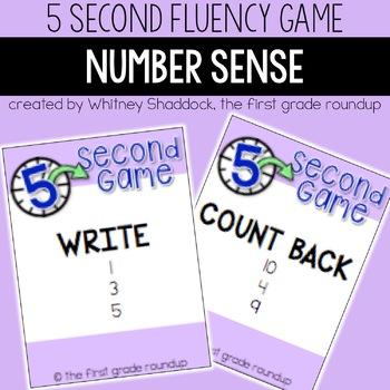 Fluency Practice Games: Number Sense