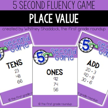 Fluency Practice Games: Place Value