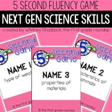 Fluency Practice Games: Science (Next Gen aligned for K-2)
