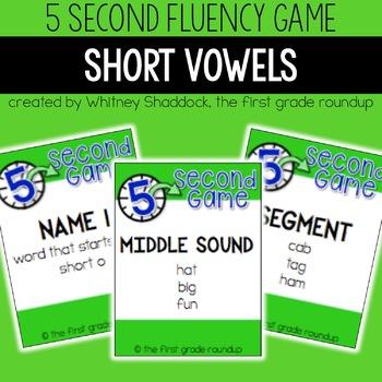 Fluency Practice Games: Short Vowels