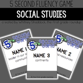 Fluency Practice Games: Social Studies (for K-2)