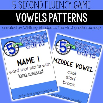 Fluency Practice Games: Vowel Patterns