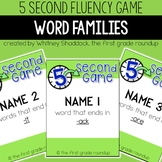 Fluency Practice Games: Word Families