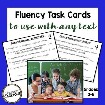Fluency Practice Task Cards: Read Like a Teacher