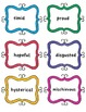 Fluency Practice Jar - 30 Emotion Cards