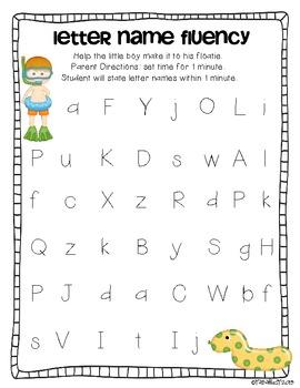Fluency Practice {LNF, LSF, NWF, PSF} FREEBIE