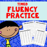 Fluency Practice- Letter Names, Letter Sounds, and CVC Words