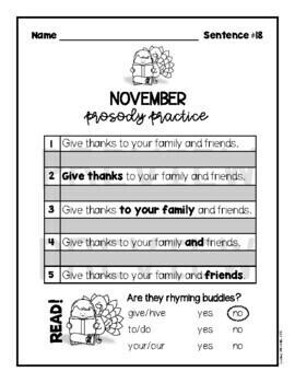 Fluency Practice (November)