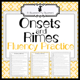 Fluency Practice - Onsets and Rimes - Increase Fluency and