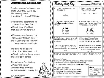 Fluency Practice Poem: Christmas Comes but Once a Year by Kenn Nesbitt