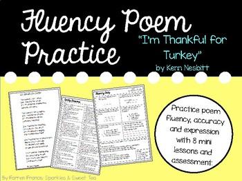 Fluency Practice Poem: I'm Thankful for Thanksgiving by Kenn Nesbitt